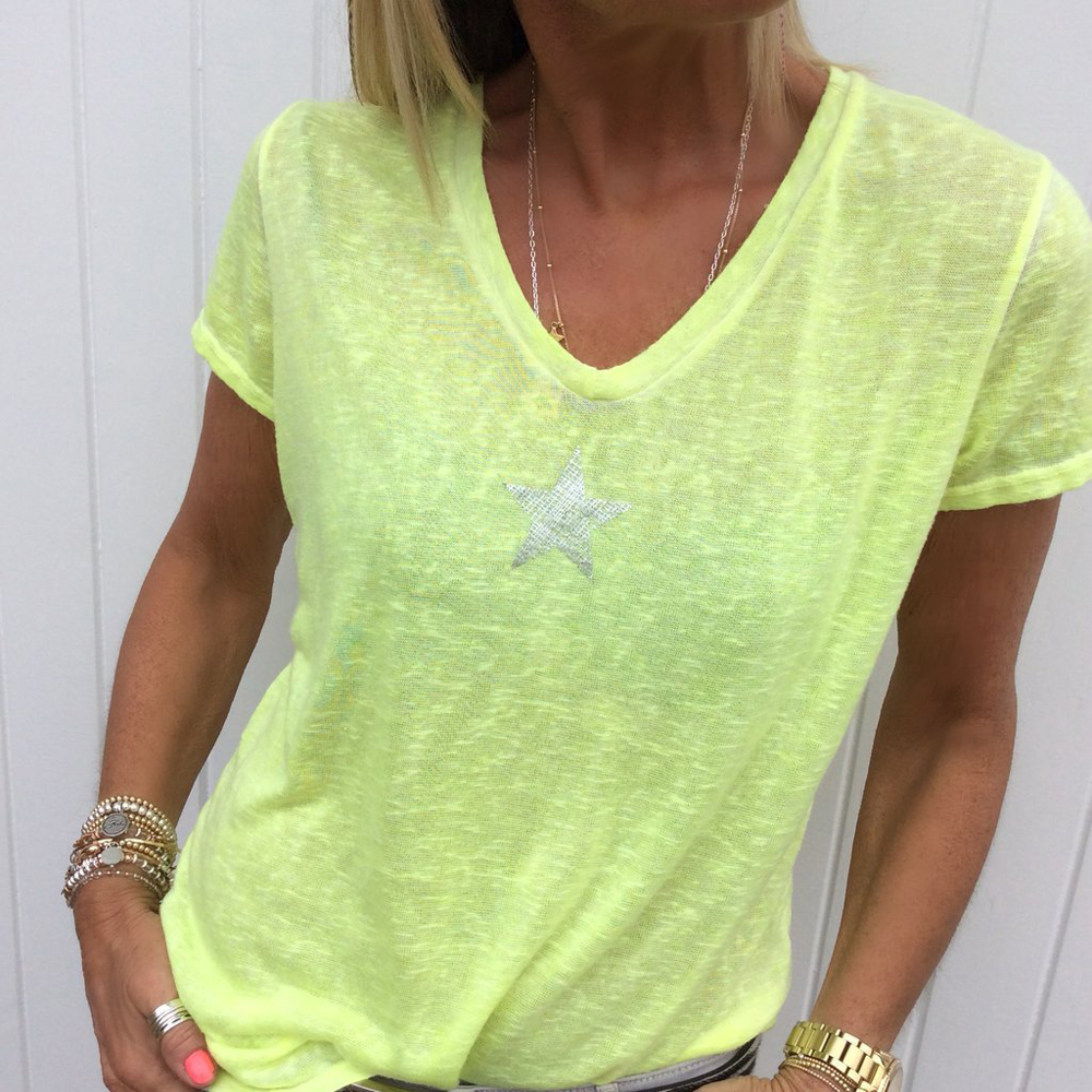 95dd6a9545fd Top 10: Los mejores remera amarilla mujer list and get free shipping ...