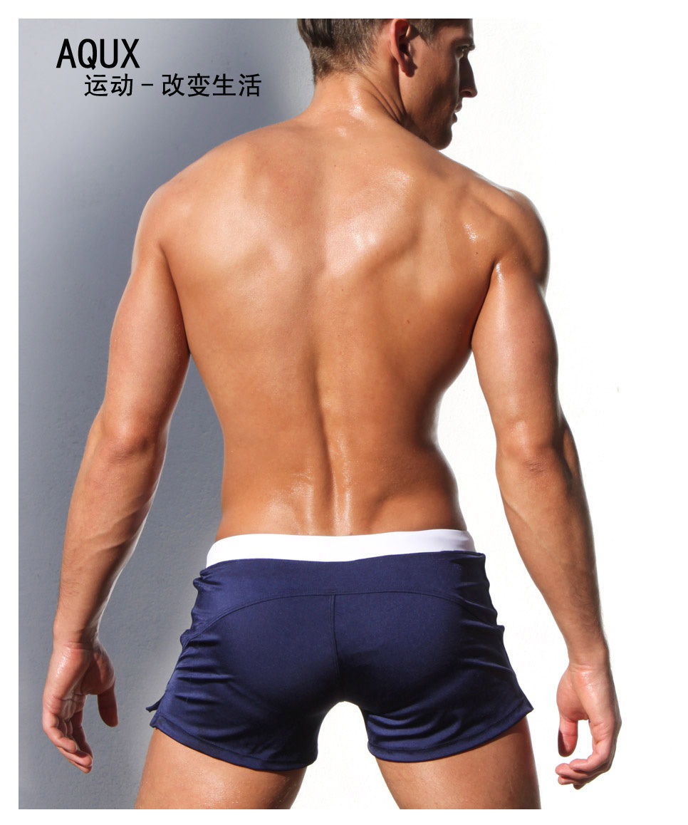 e404660bd5 Sexy Men Swimwear AQUX Men/'s Swimsuits Surf Board Beach Wear Man Swimming  Trunks Boxer Shorts Swim Suits ...