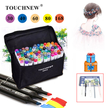 TOUCHNEW 30/40/60/80/108/168 Colors Art Markers Artist Alcohol Based Copic Markers Sketch Drawing Manga Art Supplies Markers