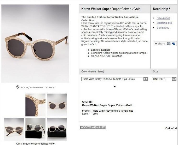 e32b942465 Retro hollow circle Karen Walker Sunglasses Metal Sunglasses-in Sunglasses  from Apparel Accessories on Aliexpress.com