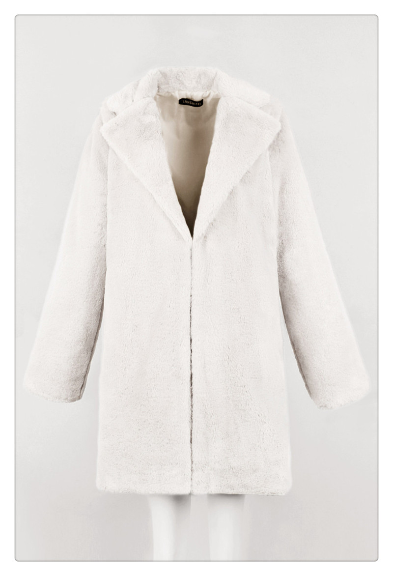 Imitation fur coat 2018 European and American women's wear long and loose plush soft rabbit hair (14)