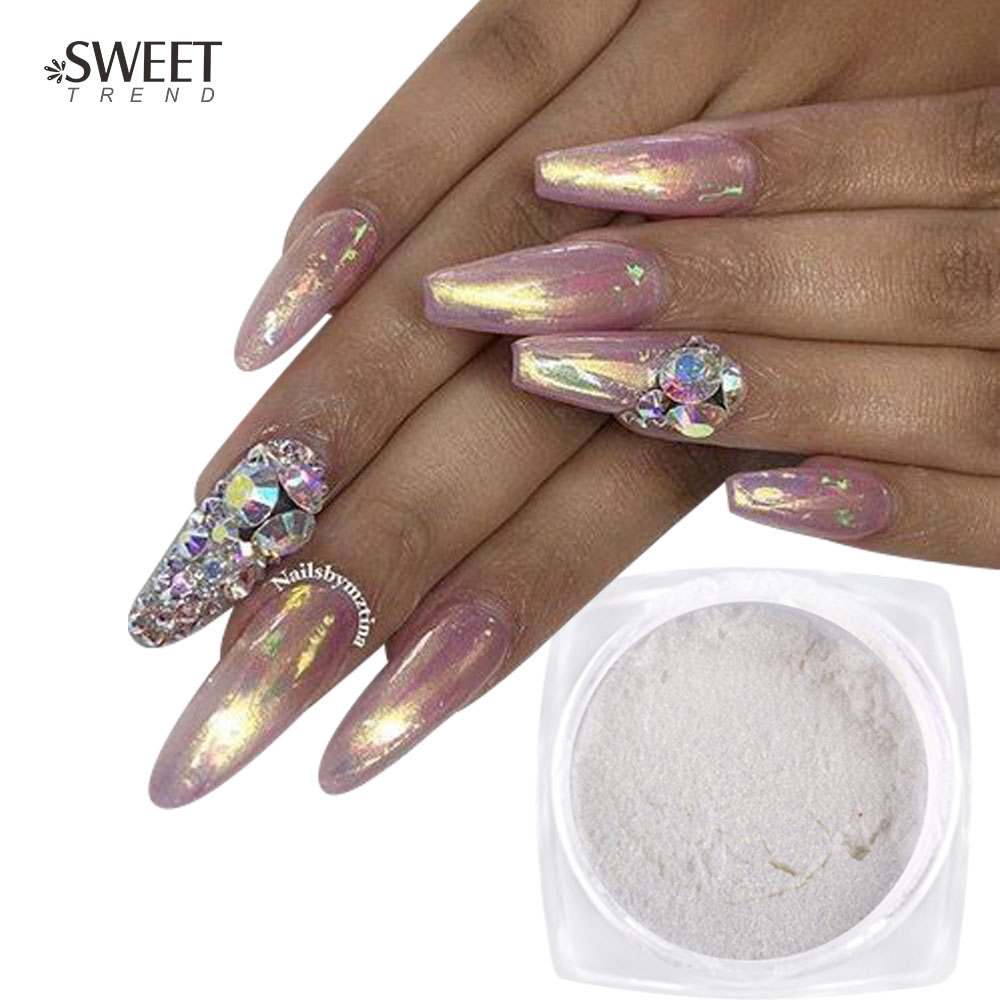 1box 1g nail glitter mirror pigment