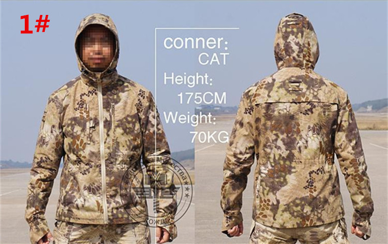 Rattlesnake Camo Jacket Mens Python tactical paintball shooter grand HUNTING CAMPING cycling outdoor sports jacket mainly 51783 camo shooter jacket and pants mens python grain military hunting paintball camping airsoft paintball tactical sports set