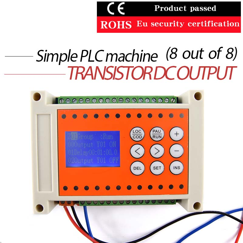 Simple PLC8 into 8 out programmable multiple time relay inte 0 01 999 second 8 terminals digital timer programmable time relay