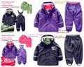 Inner child weatherproof waterproof suit boys and girls ski outfits removable suit Within PU outfits can be worn alone