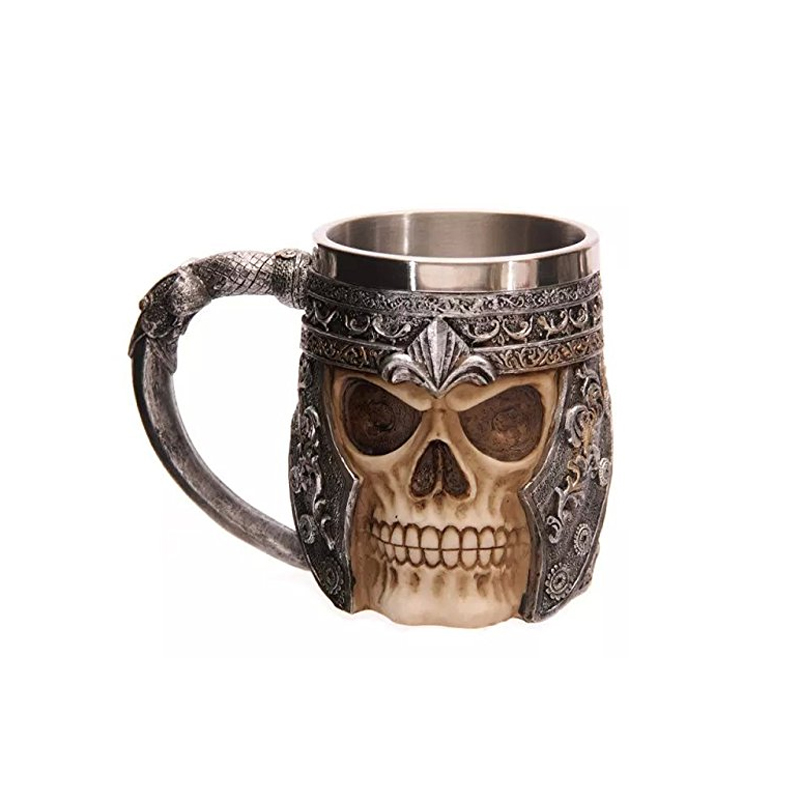 3D Design Cool 350ml Skull Mug Design Stainless Steel Coffee Tea Cup