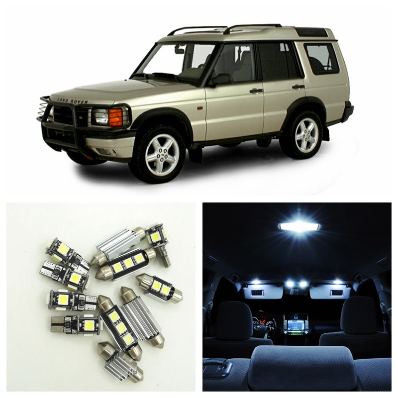 13pcs Canbus White Car LED Light Bulbs Interior Package Kit For 1998-2004 Land Rover Discovery Map Dome Door Lamp Error Free free shipping 60 17x a4 s4 b5 1998 2001 white led lights interior package kit canbus