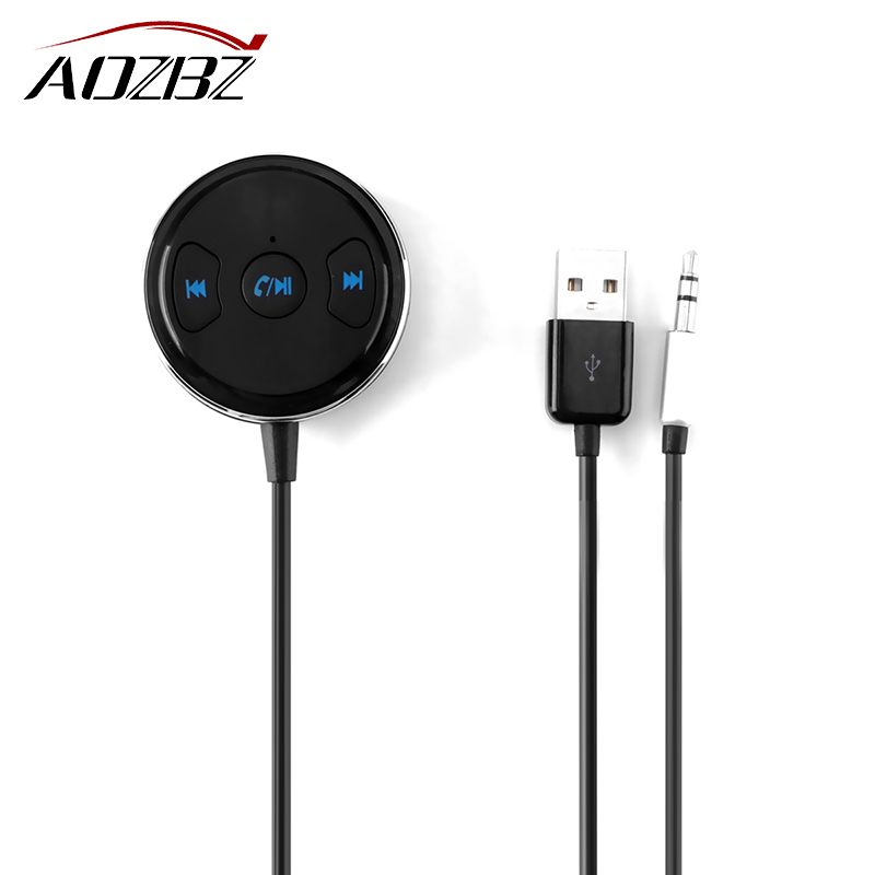 Docooler Bluetooth Receiver Hands Free Car Kits 3 5mm Stereo Bluetooth Music Receiver: AOZBZ 3.5mm Bluetooth Receiver Music Audio Receiver Adapter Rechargeable Hands Free Kit AUX