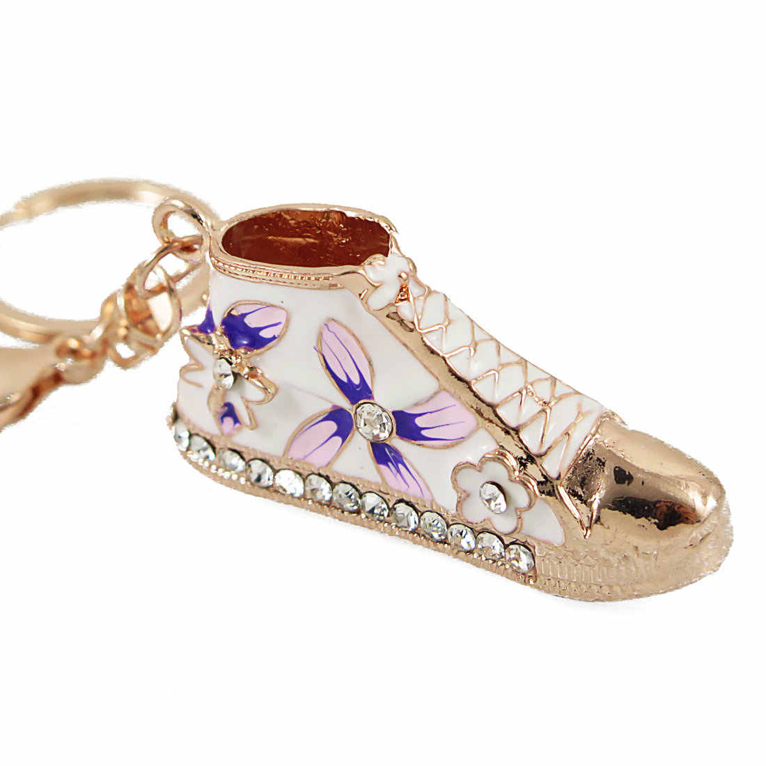 4fd183ea3f25 ... 2018 Hot Sale High Quality Crystal Shoe Keyring Keychain Rhinestone  Purse Charm Pendant Bag NMD Key