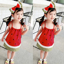 MUQGEW Toddler Baby Kids Girls Slip Dress Watermelon Casual Ribbons Beach Dress kid shirt girl clothes summer 2019(China)