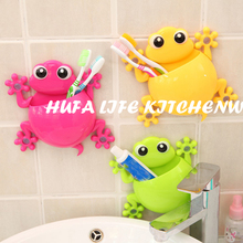 2016 New Gecko Cartoon Sucker Toothbrush Holder Cute Suction Hook Tooth Brush Rack,Accessories Set Suction Cup Tool For Bathroom