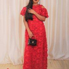 Sexy African Plus Size Tassel Women Long Party Dresses Elegant Off Shoulder Black Robe Yellow Female Fashion Autumn Maxi Dress plus off shoulder tassel embellished maxi dress