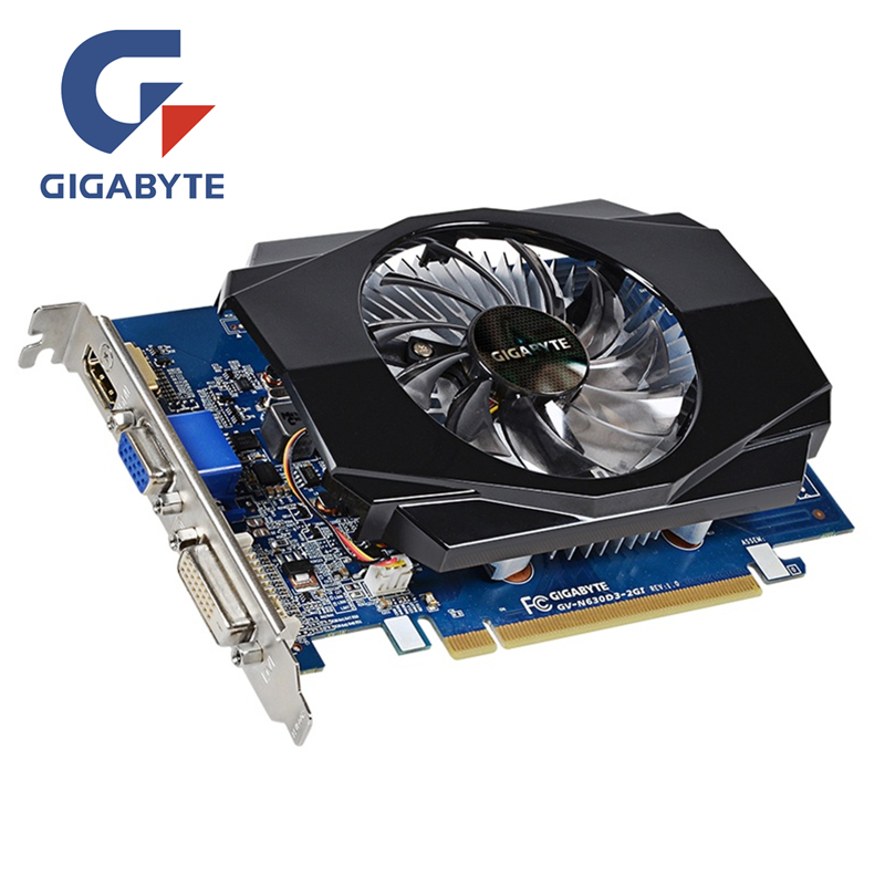 GIGABYTE GT630 2GB Video Card GV-N630-2GI 2GD3 128Bit GDDR3 Graphics Cards for nVIDIA Geforce GT 630 D3 HDMI Dvi Used VGA Cards
