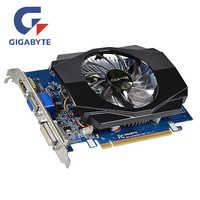GIGABYTE GT630 2GB karta graficzna GV-N630-2GI 2GD3 128Bit GDDR3 karty graficzne dla nvidia geforce GT 630 D3 HDMI Dvi używane karty VGA