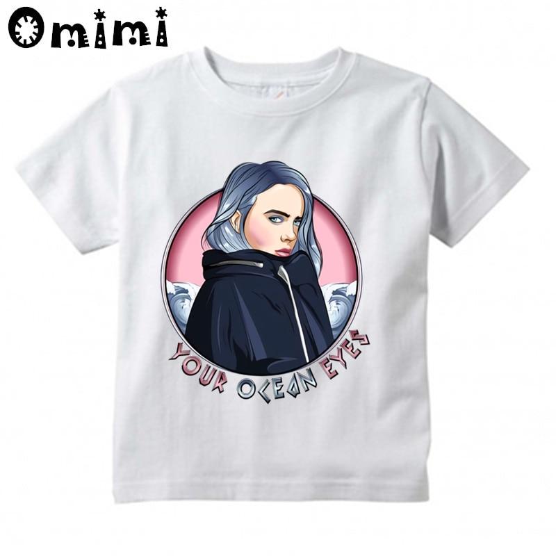 Boys Shirts Billie-Eilish-Pirate Girls Tee Shirt Youth Short Sleeve Teenager Youth T-Shirts Top