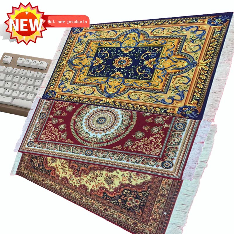 39*60CM Persian Carpet  Gaming Large Mouse Pad High Quality Notebook With Tassel Keyboard Pad Can Be Used For Table Pad Pet Mat