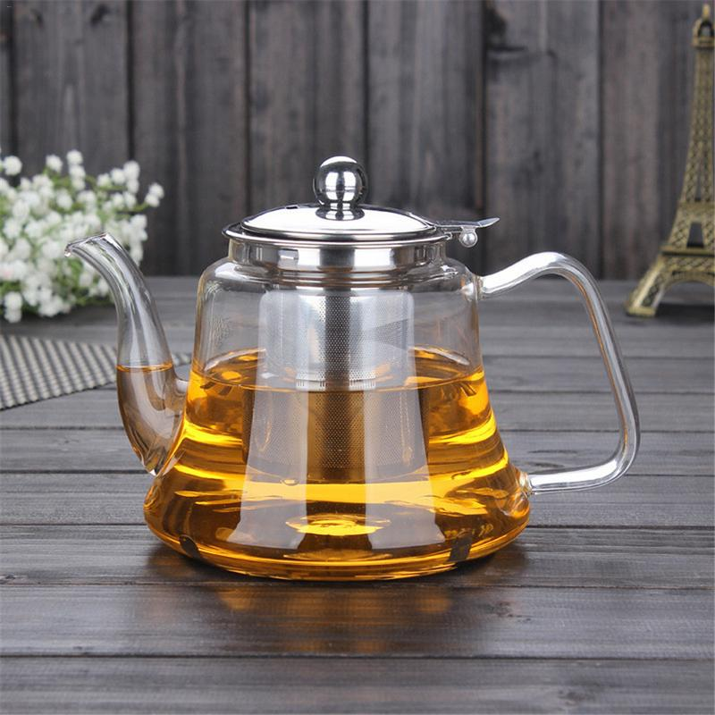 High Temperature Resistant High Borosilicate Glass Teapot Health Pot Stainless Steel Base Can Be Heated By Induction CookerHigh Temperature Resistant High Borosilicate Glass Teapot Health Pot Stainless Steel Base Can Be Heated By Induction Cooker