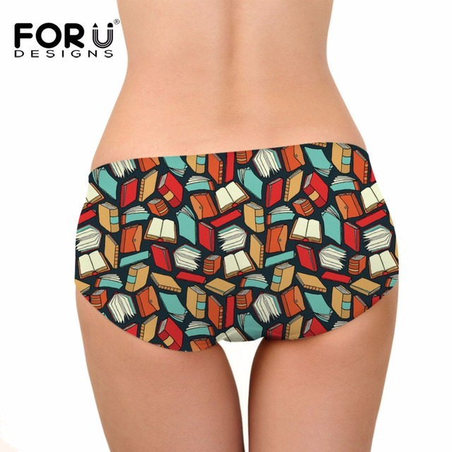 FORUDESIGNS Brazil Bottom Thong Swimsuit Book Math Printed Brazilian Bikini Bottoms Women Swimming Trunks Tankini Swimsuits 2018 1