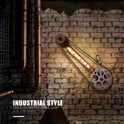 Loft Style Iron Edison Wall Sconce RH Retro Cycling Gear Wall Light Fixtures Home Indoor Vintage Industrial Lighting Lamparas america rope vintage wall lights fixtures in style loft industrial wall lamp edison wall sconce wandlamp lamparas aplik