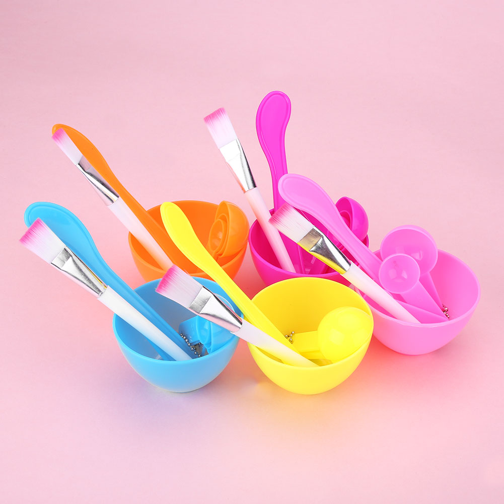 Online color mixer tool - Makeup Beauty Diy Mixing Facial Face Mask Bowl Brush Spoon Homemade Tool Set Random Color