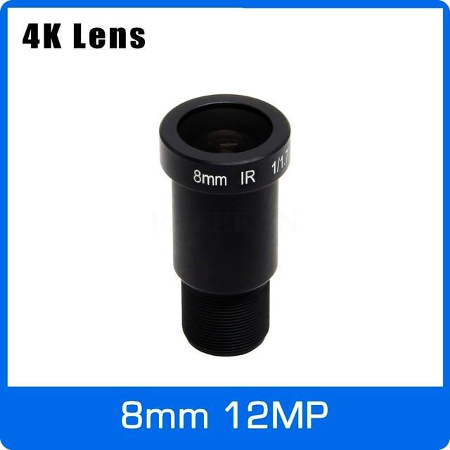 4K 렌즈 12 메가 픽셀 고정 M12 렌즈 8mm 장거리보기 1/1.7 IMX226 IMX178 4K IP CCTV 카메라 또는 4K 액션 카메라