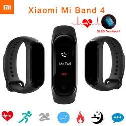 Originale Xiao mi mi fascia 4 Musica smart Mi Fascia 4 braccialetto frequenza cardiaca Fitness 135 Mah Di colore dello schermo Di Bluetooth 5.0 2019 Più Nuovo Caldo