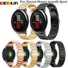 22 мм Нержавеющая сталь, браслет, ремешок для наручных часов, ремешок для наручных часов Xiaomi Huami Amazfit умные часы браслет для samsung Шестерни S3 спортивные классические