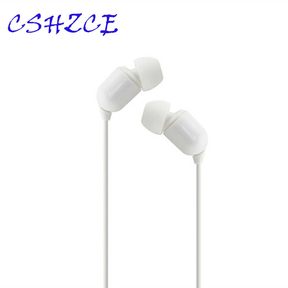 Wired Earbuds Headphones 3.5mm In Ear Earphone Earpiece Stereo Headset 3 Color 3M Long Line For Samsung Xiaomi Phone