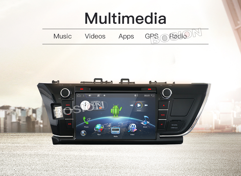 9inch Quad Core 2GB RAM Android 7.1 Car Radio GPS Navigation Player for Toyota Corolla 2013 2014 2015 2016 with Canbus
