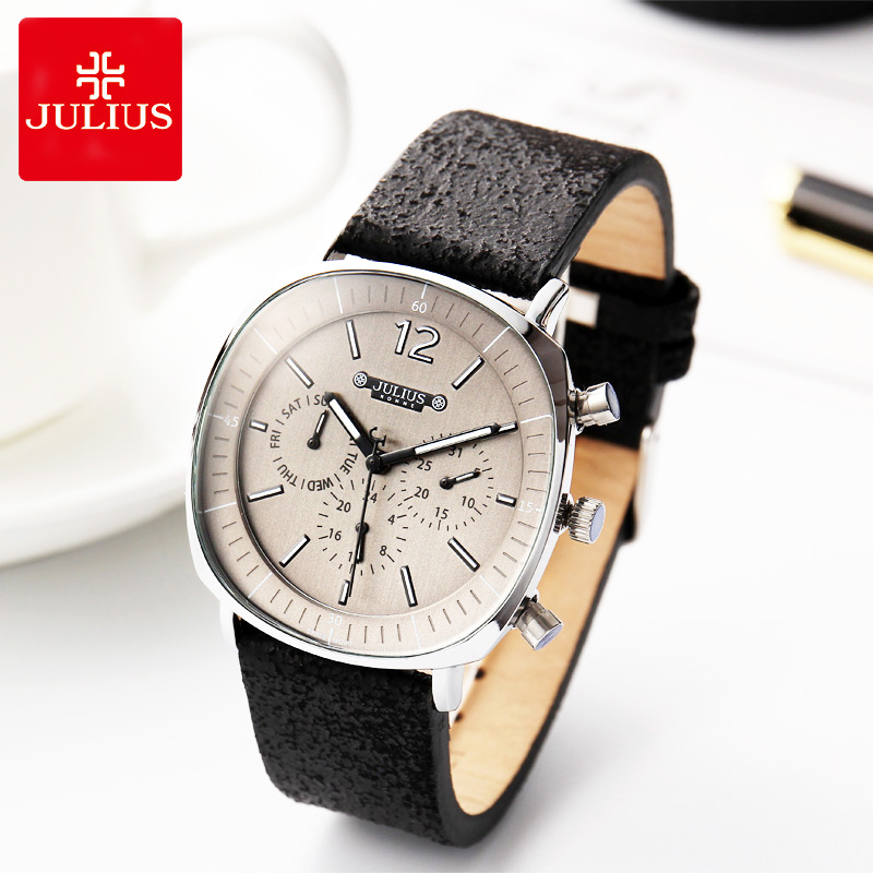Real Functions ISA or Epson Mov t Men s Watch Fashion Hours Bracelet Real Leather Business