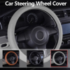 Dewtreetali Genuine Leather Universal Car Steering Wheel Cover 38cm Car Styling Auto Steering Wheel Cover Interior
