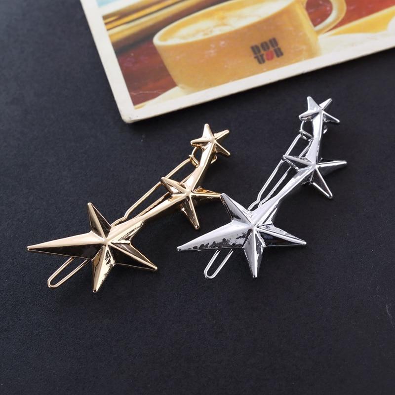 1 шт Заколки для волос для Для женщин 3 золотой заколки со звездочками заколки для девочек G0507