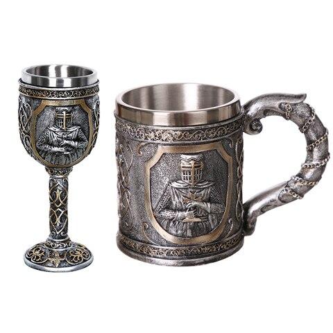 Caneca de Café de Aço Canecas de Cerveja Presente para os para os Homens do Dia Presentes do Dia das Bruxas Bar de Decoração para Casa Dia dos Pais 1 Pcs 304 Viking Crânio Crânio Inoxidável Homens do