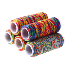 5 шт./пакет швейных ниток ручной вышивки Радуга Цвет швейных ниток, для домашнего использования, принадлежности для шитья товары Подарки