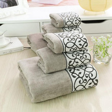 High Quality Europe Style  3pcs/set Bath Face Towel Set 100% Cotton Towels Home Textile For Bathroom Use