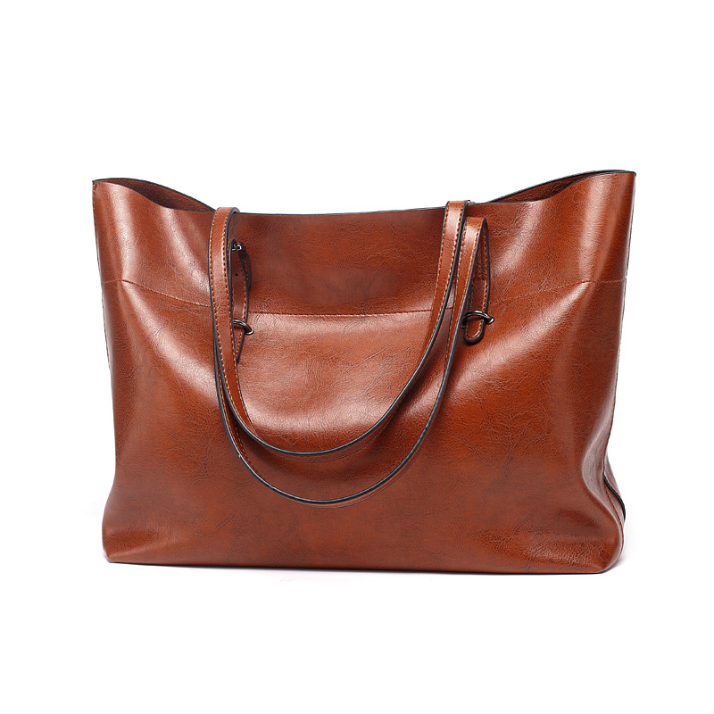 SGARR Large Capacity Oil Wax PU Leather Handbags Women Shoulder Bag High Quality Ladies Shoulder Crossbody Bag Casual Tote Bags frederique constant slim line fc 306mc4s36