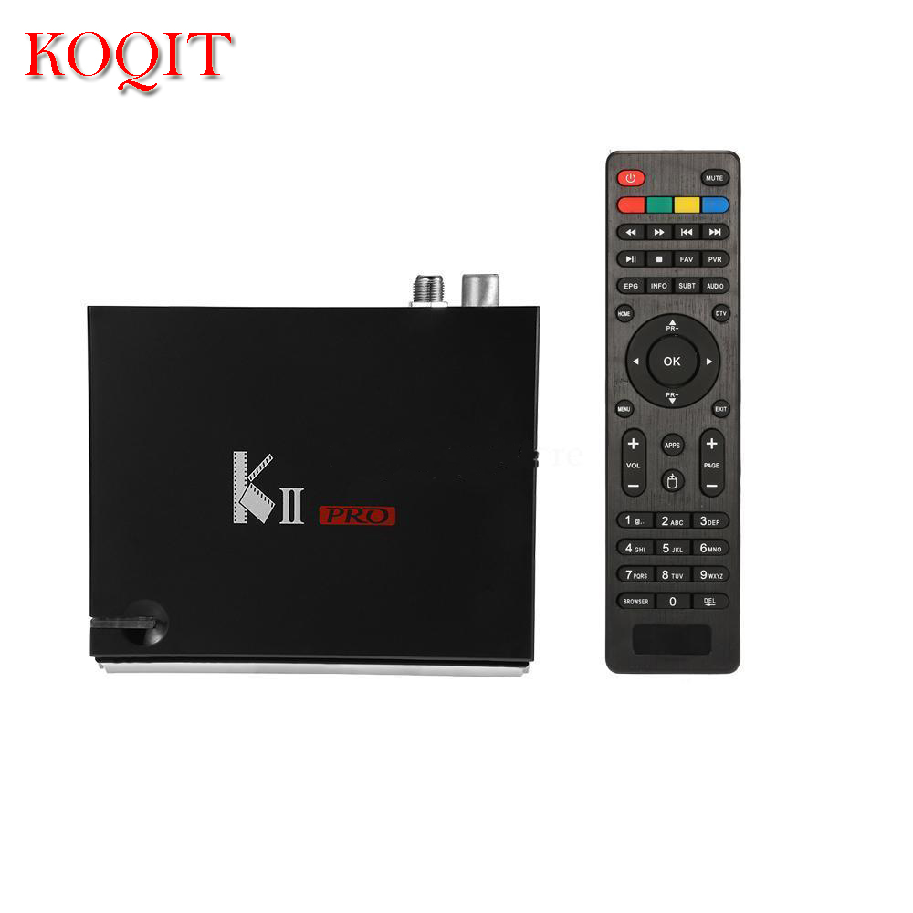French IPTV K2PRO Android DVB S2/T2 Combo Receptor With 2G RAM Android 5.1+ FTA IPTV Combo H.265 4K TV Box android box iptv stalker middleware ipremuim i9pro stc digital connector support dvb s2 dvb t2 cable isdb t iptv android tv box
