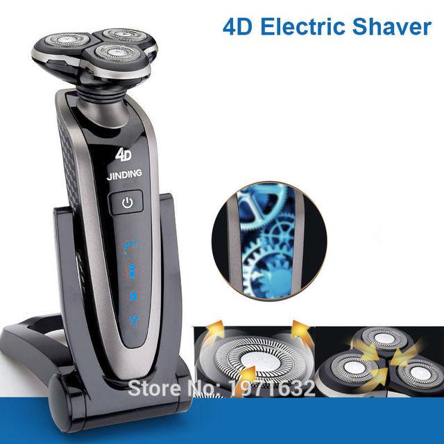 A nova de alta qualidade lâminas de barbear máquina de barbear homem 3 d crime três cabeças recarregável barbeador elétrico dispositivo de remoção de cabelo à prova d' água