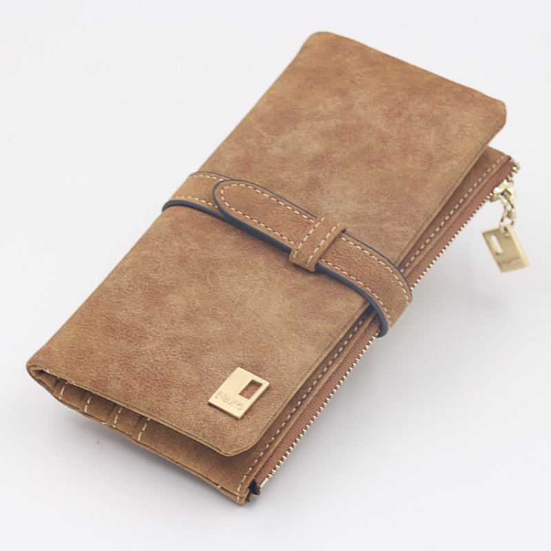 2018 New Fashion Women Wallets Scrub Leather Zipper Wallet Women's Long Design High Quality Hasp Card Holder Clutch Female Purse new fashion women leather wallet deer head hasp clutch card holder purse zero wallet bag ladies casual long design wallets