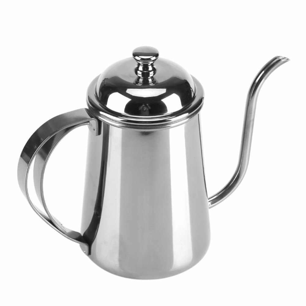 650 мл кофейник из нержавеющей стали, залейте чайник, длинный рот, гусиная шея, капельный чайник, Кофеварка, чайник, чайник