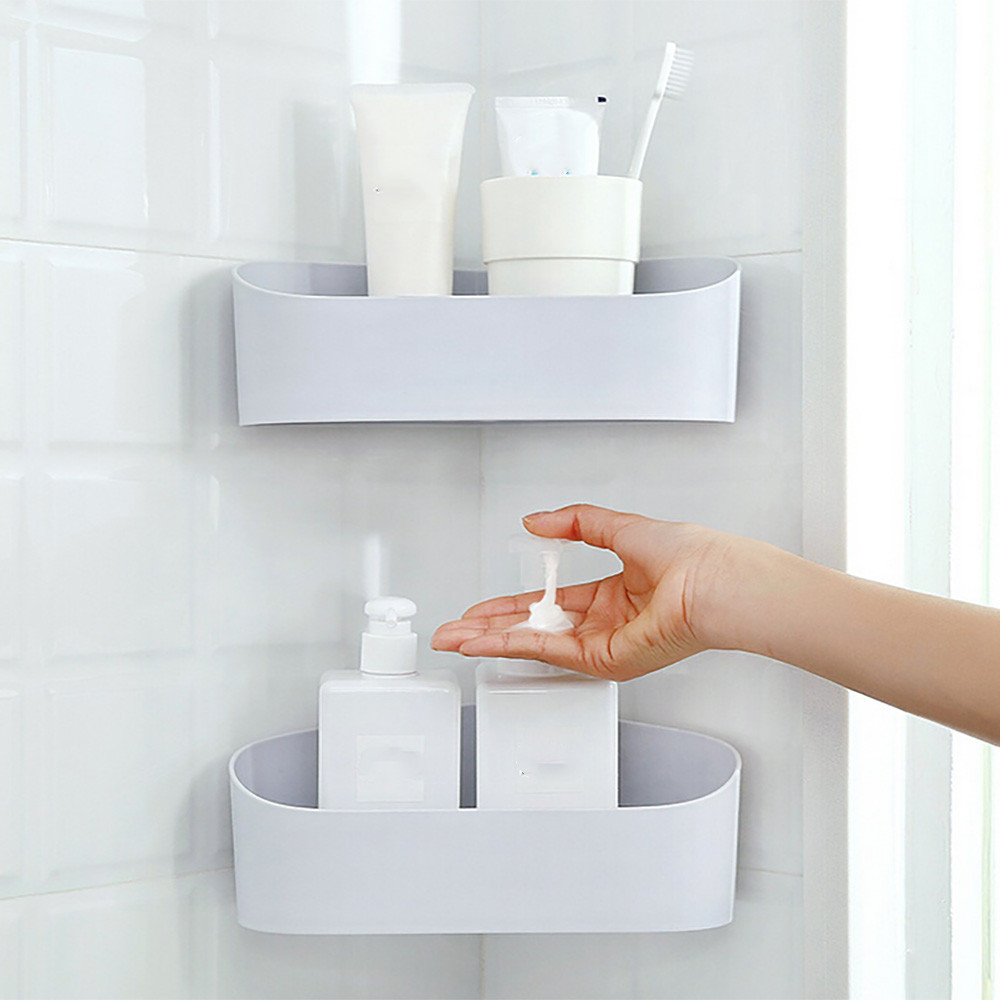 Plastic Bathroom Kitchen Corner Storage Rack Organizer ...