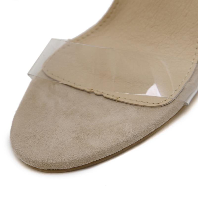 Image 4 - Silentsea transparente tacones de Mujer Zapatos de verano sandalias Sexy moda tacones claros para mujer zapatos de gran tamaño dropshipping-in Sandalias de mujer from zapatos on AliExpress