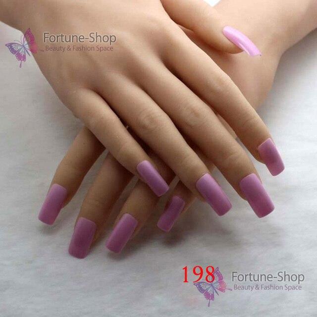 Tkgoes 20pcs Fake Nails Light Pink Acrylic Nail Tips Plastic False