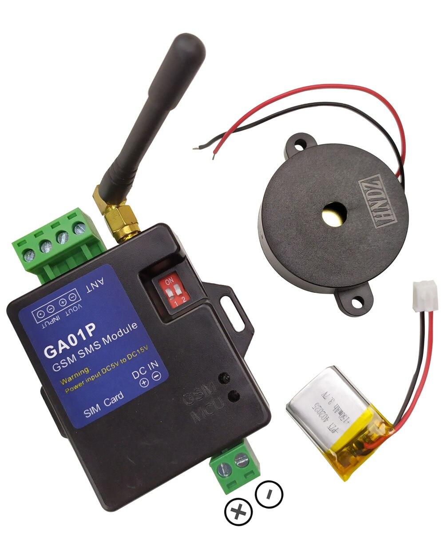 Frete grátis nova ga01p minil gsm sistemas de alarme sms alarmes sistema segurança bateria recarregável para alerta falha energia