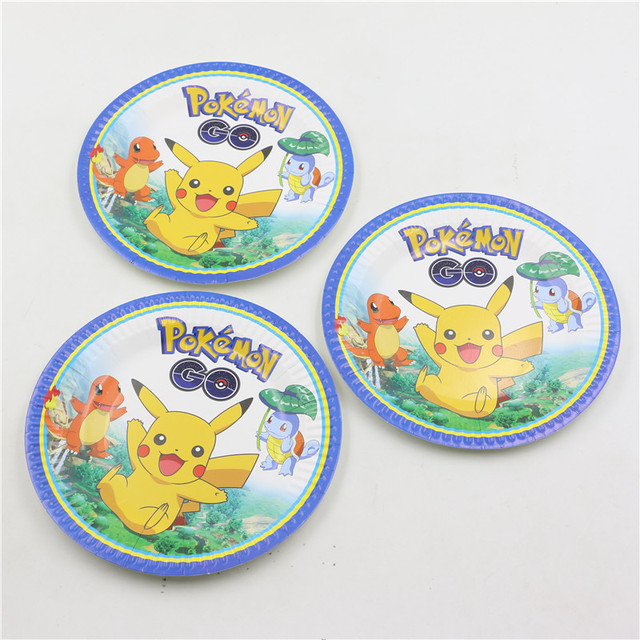 decoracin de cumpleaos pikachu pokemon ir pulgadas platos de papel fiesta de cumpleaos pastel vajilla platos