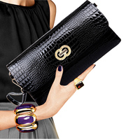 Genuine Leather Women Clutch Bags 2016 Cowhide Purse Evening Party Handbags Ladies Small Shoulder Bags PT1067