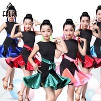 2018 Girl Latin Dance Dress Children Ballroom Dance Dresses Salsa Tango Skirt Child Competition Dancewear Kids Dance Costumes
