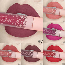 24 Color Matte Lipstick Waterproof Long Lasting Red Lip Gloss Makeup Cosmetic Purple Nude Liquid Stick Make Up