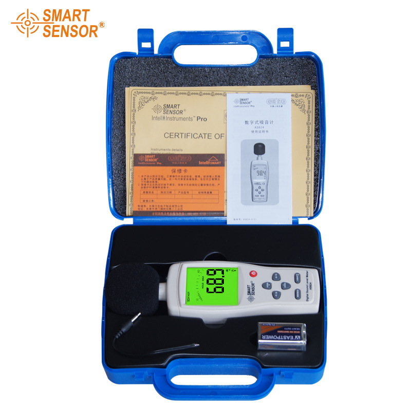 ФОТО AS824  Handheld larger LCD screen display digital sound level meter noise decibel meter 30~130 dB Noise meter