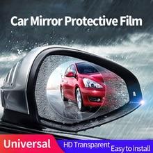 Mikkuppa Car Rearview Mirror Glass Rainproof Film Anti-fog Waterproof Protective